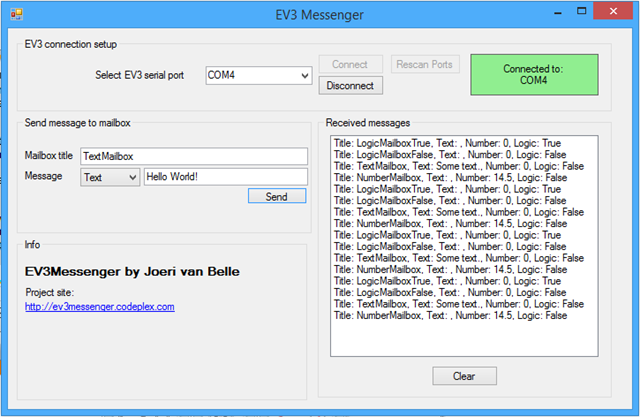 Talking to your EV3: EV3Messenger | Bot Bench