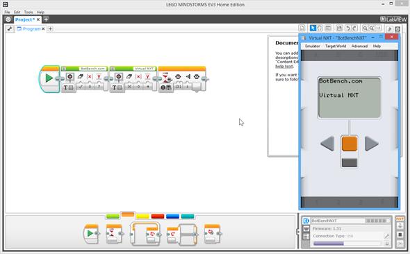 Virtual NXT + EV3 programming environment