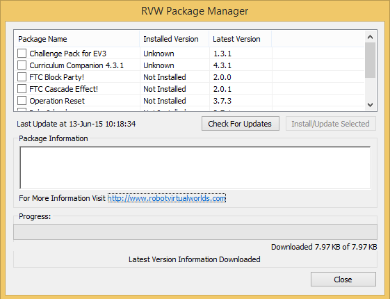 RVW Package Manager